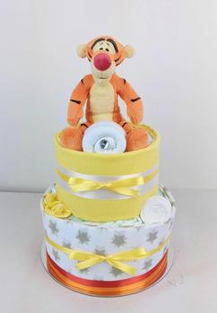 Neutral Unisex Tigger Nappy Cake