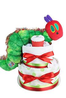 Neutral Unisex Hungry Caterpillar Nappy Cake - Newborn Nappy Cakes Sydney