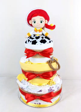 Cowgirl Country Theme Nappy Cake