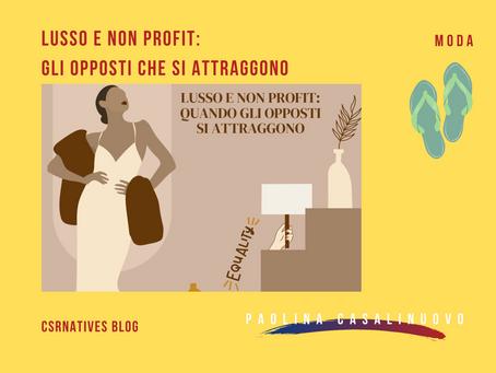 Lusso e non profit: gli opposti che si attraggono