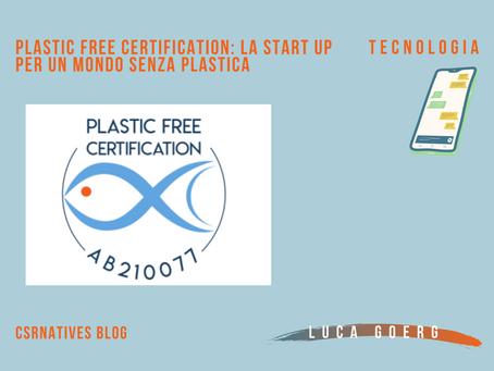 Plastic Free Certification: la start up per un mondo senza plastica