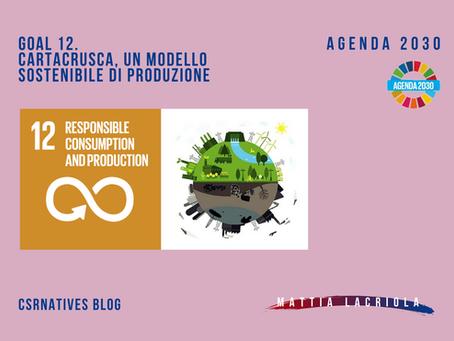 GOAL 12. CartaCrusca, un modello sostenibile di produzione