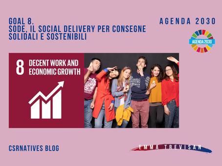 GOAL 8. SoDe, il social delivery per consegne solidali e sostenibili