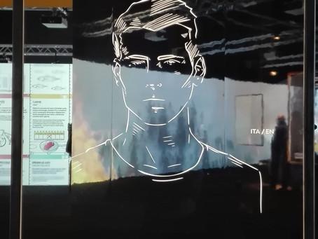 """Uscendo dalla mostra """"Capire il cambiamento climatico"""" di Milano"""