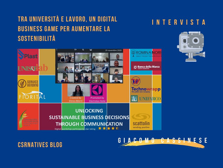 Tra università e lavoro, un digital business game per aumentare la sostenibilità