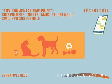 """""""Environmental Paw Print"""": coinvolgere i nostri amici pelosi nello sviluppo sostenibile"""