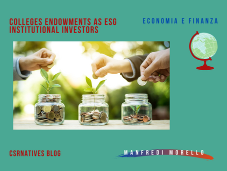 Colleges endowments as ESG institutional investors