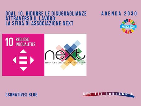 GOAL 10. Ridurre le disuguaglianze attraverso il lavoro: la sfida di Associazione Next