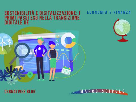 Sostenibilità e digitalizzazione: i primi passi ESG nella transizione digitale UE