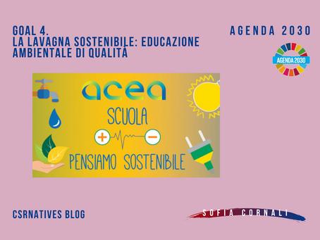 GOAL 4: La lavagna sostenibile: educazione ambientale di qualità