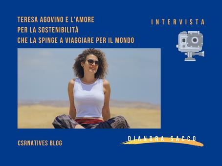 Teresa Agovino e l'amore per la sostenibilità che la spinge a viaggiare per il mondo