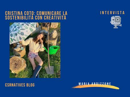 Cristina Coto: comunicare la sostenibilità con creatività