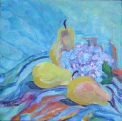 Pears with Hydrangea