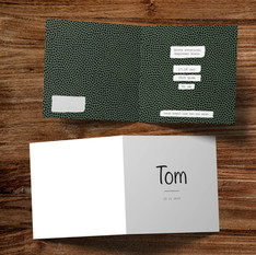 Geboortekaartje Tom