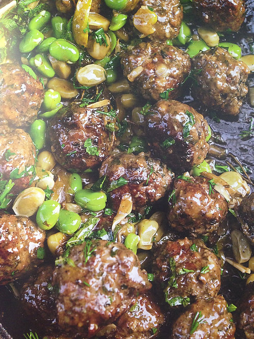 Meatballs with Peas Serves 4 pp