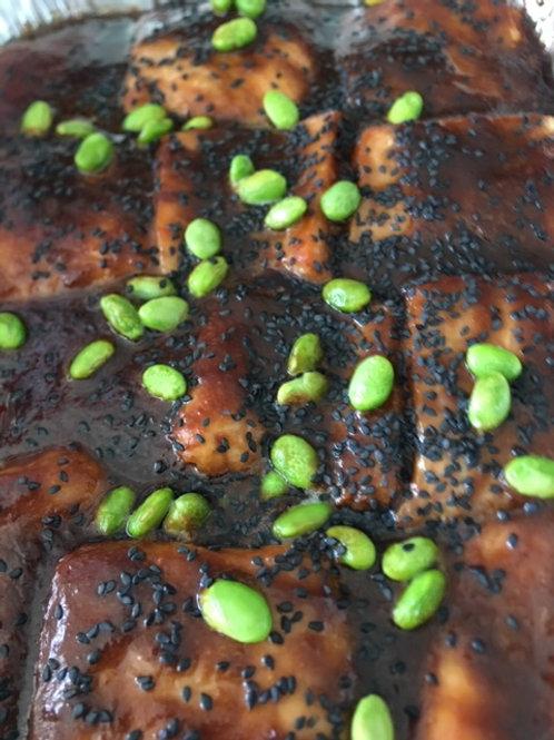 Honey Ginger Miso Glazed Salmon serves 2-3 pp