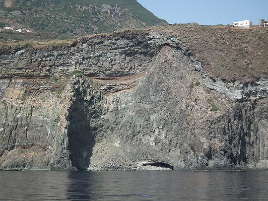 Caldera-Aussenwand / Parete della caldera da fuori.