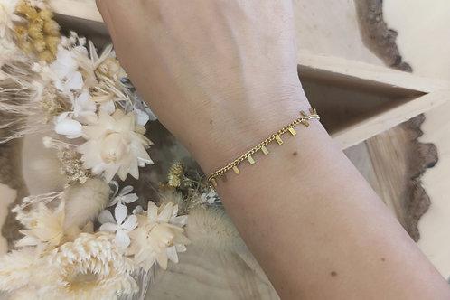 Bracelet en acier doré