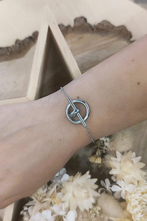 Bracelet en acier argenté