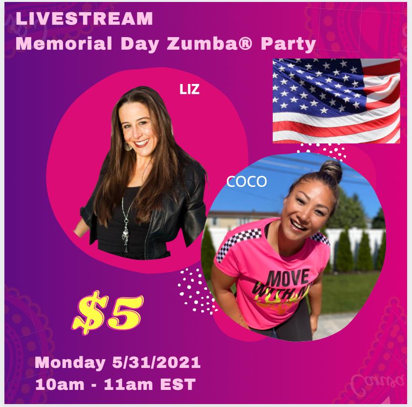 Livestream Memorial Day Zumba® Party