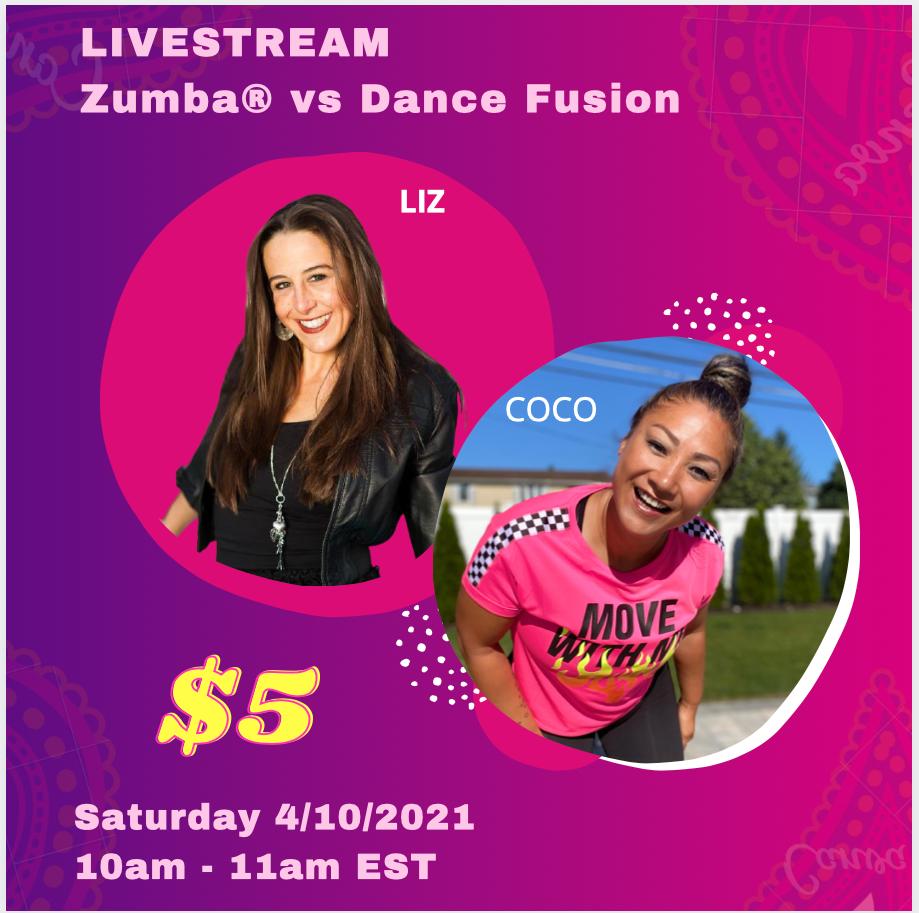 Livestream Zumba® vs Dance Fusion
