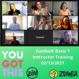 Zumba Basic 1 2/13/21