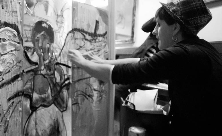 ilaria aprile live paining pittura estemporanea