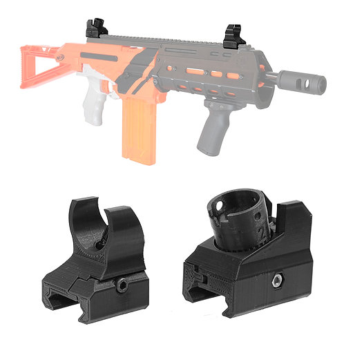 AK Blaster MOD 3D Print 416 Picatinny Sight Set Diopter for Nerf Modify Toy