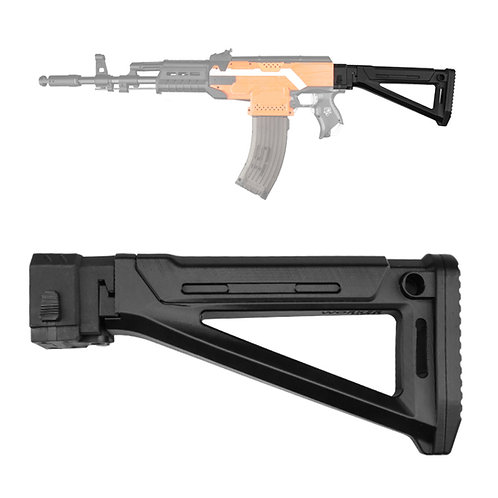 Worker MOD F10555 MOE AK Carbine Style Foldable ButtStock for Nerf Toy