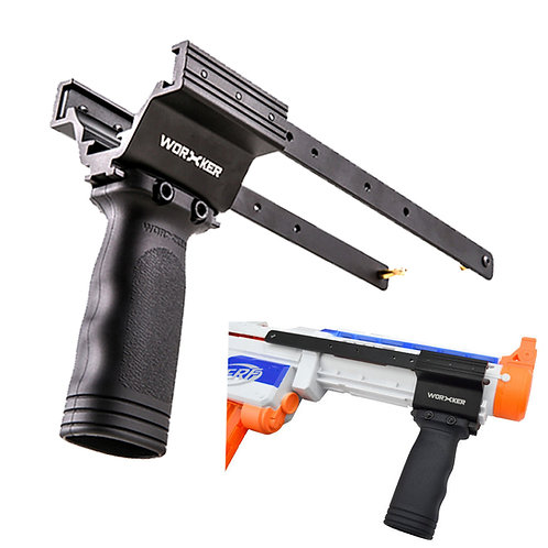 Worker MOD Pump Kit Vertical Grip Anodized Alloy for Nerf Retaliator