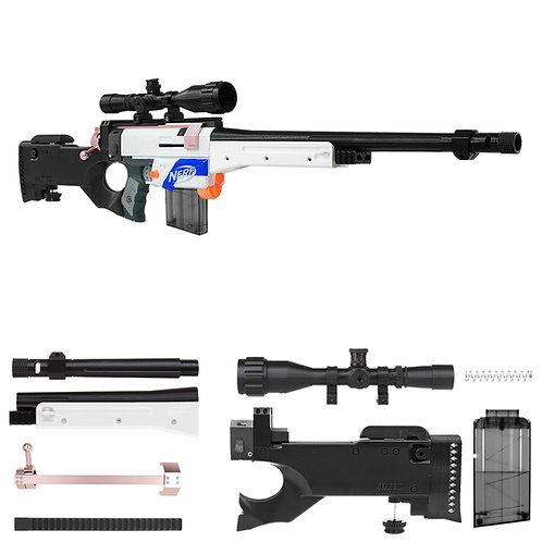 Worker F10555 AWP Sniper Imitation Kit with Scope 3DPrint for Nerf Retaliater