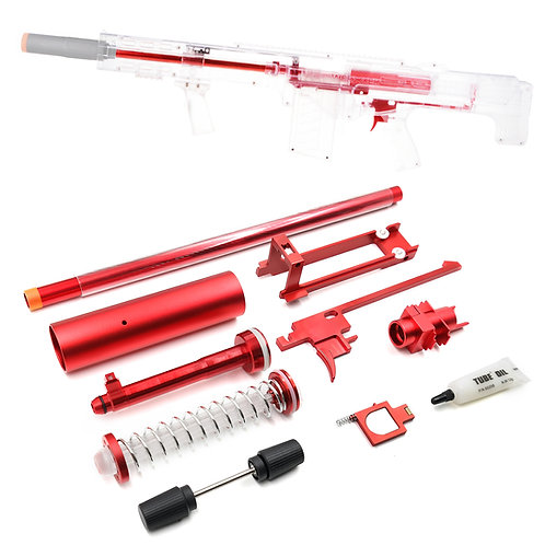 Worker MOD Red Metal Extended Barrel Breech Bolt 18KG Kit for Nerf LongShot