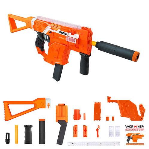 Worker MOD Kriss Vector Imitation Kit Orange Combo for Nerf Stryfe