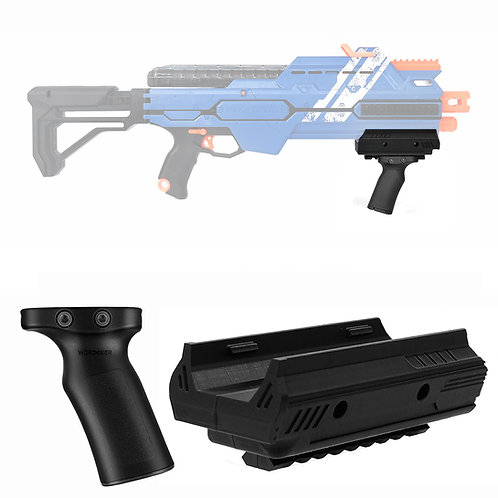 AK Blaster MOD Tactical Pump Fore Grip 3D Print for Nerf Rival Hypnos Modify Toy