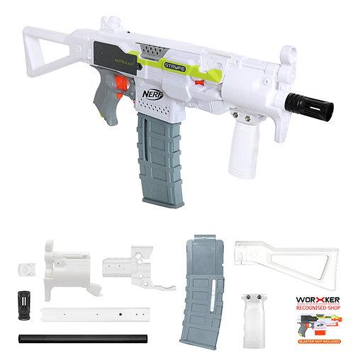 Worker MOD F10555 MP5K PWD Imitation Kit White Combo for Nerf Stryfe