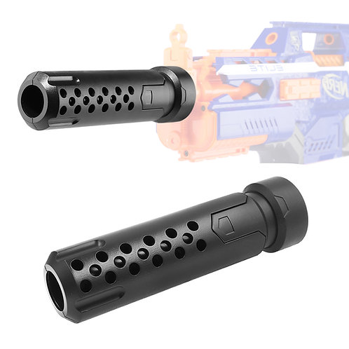AKBM Tactical Silencer Barrel Extension Attachment Black for Nerf Toy