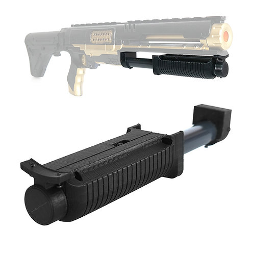 AKBM Pump Grip Kit Shot Gun Style 3D Print for Nerf Rampage Raider