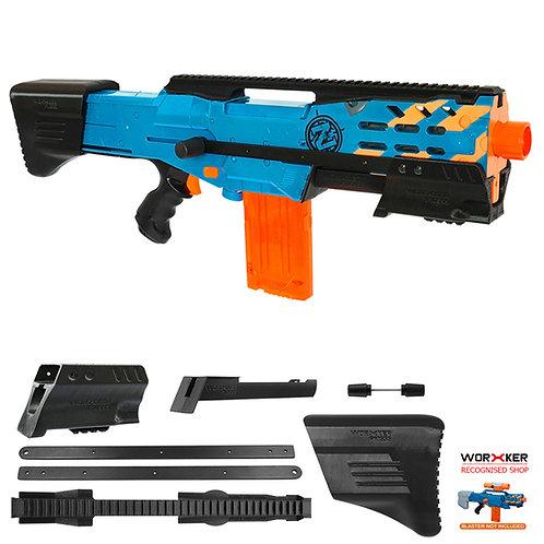 Worker MOD F10555 Pump Kit ButtStock Rail 3D Print for Nerf LongShot CS-6