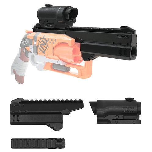 MaLiang 3D Print Handgun Barrel Rail Scope Kit for Nerf HammerShot