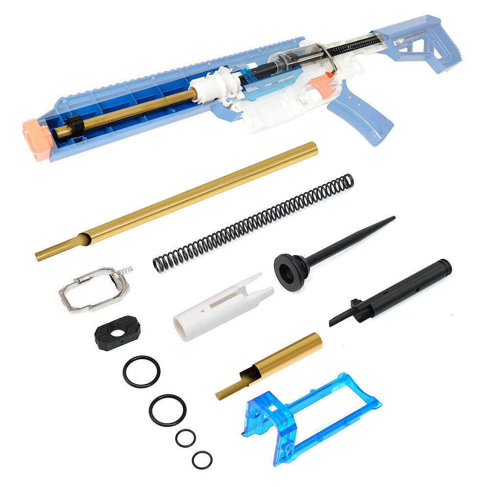 AK Blaster MOD Brass Breech Printed Bolt Spring Kit for Jet CEDA Modify Toy