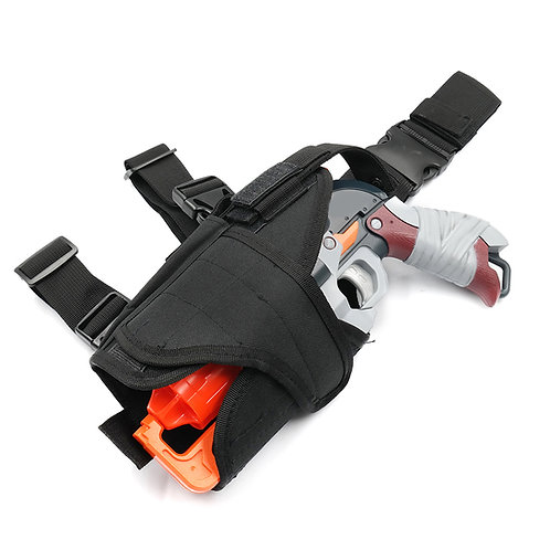 AKBM Tactical Left Hand Holster Nylon Fabric Pouch for Nerf HammerShot