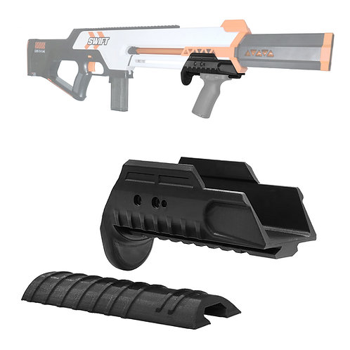 AKBM Tactical Pump Kit Fore Grip Convertible for Worker MOD Swift Blaster Toy