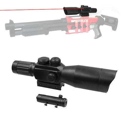 AKBM Tactical Distance Scope 1.5X Sight with Pointer for Nerf Toy