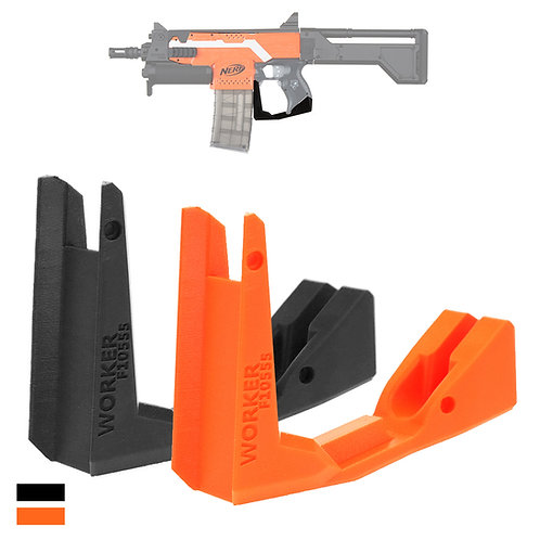 Worker MOD F10555 Handle Guard Grip End 3D printed for Nerf Stryfe