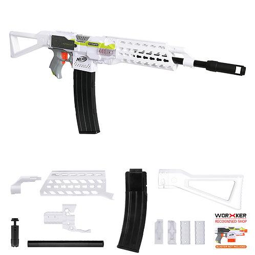 Worker MOD F10555 AK ALFA Imitation Kit White Combo for Nerf Stryfe
