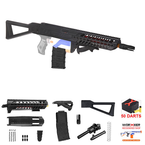 Worker MOD SIG SAUER MCX Imitation Kit Short Dart Lite Combo for Nerf Retaliator