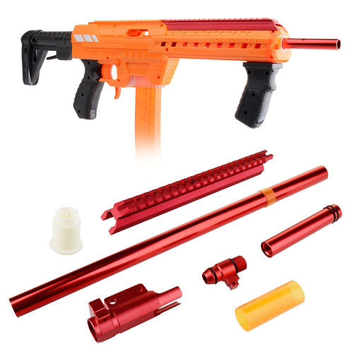Worker MOD Red Metal Bolt Breech Rail Kit for AF Nexus Pro Blaster Modify Toy