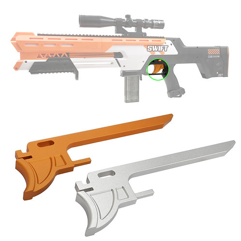 AK Blaster MOD Extended Metal Trigger Pusher for Worker Swift Modify Toy
