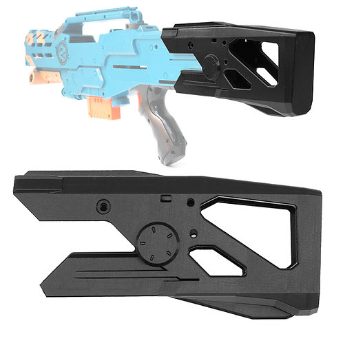 BlasterforgePH 3D Print Skeletal Fixed Butt Stock for Nerf LongShot