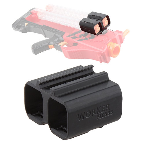 Worker MOD F10555 Rival Stick Magazine Clip Holder 3D Print for Nerf Modify Toy